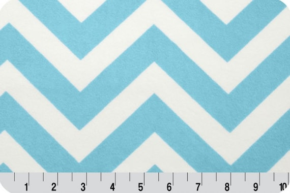 End of bolt quot turquoise snow chevron minky