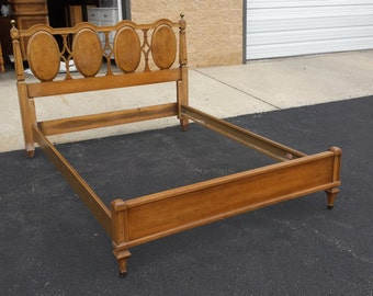 Vintage Retro Full Size Bed Mid Century Modern Headboard & Foot board PAINTED ANY COLOR. Custom Order, Pick Up or Local Delivery
