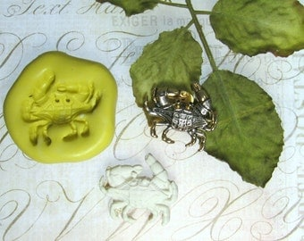 crab mold, flower mold, Silicone mold ,push mold, food supplies mold, clay supplies molds, # 45 s