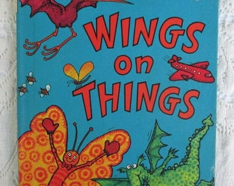 SUMMER SALE 20% Off Wings On Things, Collectible Children's Book...Bright and Early Books By Dr. Seuss