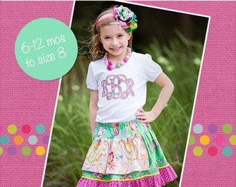 Elliette's Boutique Apron Skirt PDF Pattern Sizes 6/12m to 8 Girls