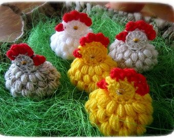 egg cozy crochet pattern PDF Easter chicken hen Easter decoration