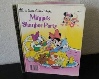 Vintage Little Golden Book - Minnie's Slumber Party - 1990