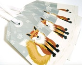 Fox Christmas Gift Tags - set of four