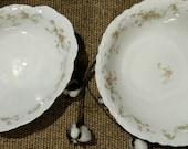 Bavarian Rose China Dinner Serving Bowls - Antique Fine China Serving Ware, Vintage Rose Bowls, Shabby Chic / Cottage Chic Rose Bowl Set