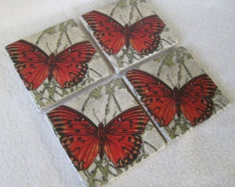 Coasters, Butterfly Coasters, Home Decor, Home and Living, Bridal Shower Gift,  Wedding Gift