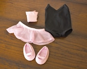 American Girl 18 inch doll Ballet Outfit, doll clothes, recital, dance, Isabelle, leotard, tights, skirt, shoes, imperfect, SALE