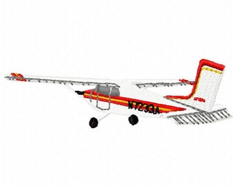 Cessna Airplane Machine Embroidery Design - Instant Download