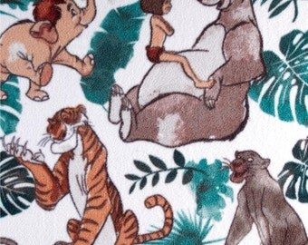 Disney Fleece Jungle Book White by the yard