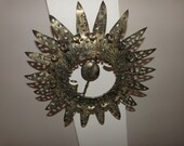 Star burst antique French tole metal sunburst starburst lighting gilded sun burst chandelier hanging ceiling light lamp sconce home decor
