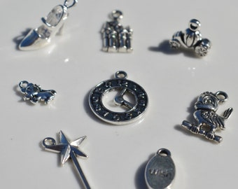 8 Charms, Cinderella Inspired Charm Set, Y13