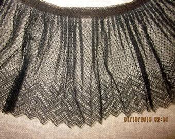 Pristine Antique Victorian Pleated Lace