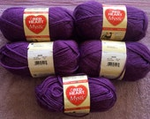 "Knitting Yarn ""Red Heart Mystic"" in Grape. 70 Acrylic and 30 Alpaca"