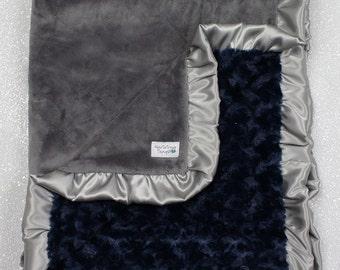 Minky Blanket, baby Blanket, baby boy,  modern blanket, hipster baby, navy blue and grey, arrow blanket, Grey blanket, modern blanket, silky