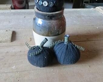 Pair of Fabric Pumpkins