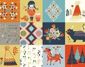 Birch Fabrics Organic  Wildland Poplins -  Wildland Patch