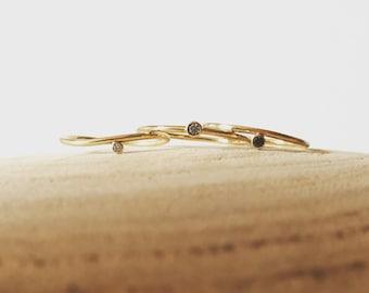 Side Set Diamond/Birthstone Ring