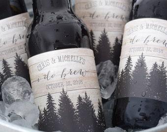 Rustic Wedding Beer Bottle Labels - Beer Labels - Custom Beer Bottle Labels - Personalized Beer Label - Waterproof Beer Labels - I Do Brew