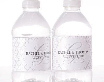 Personalized Water Bottle Labels - 30 Wedding Water Bottle Labels - Custom Bottled Water Labels for Weddings