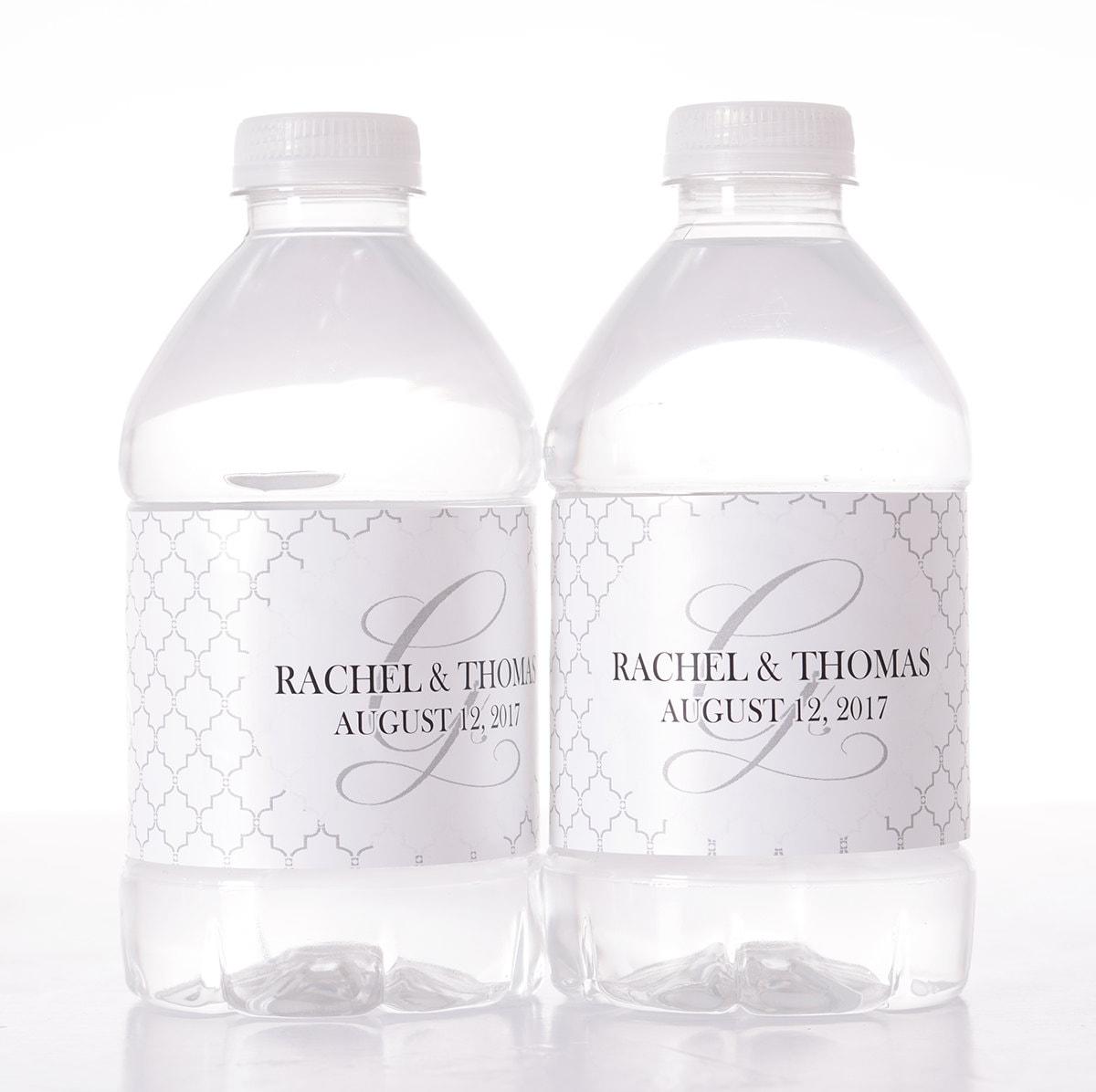 Personalized Water Bottle Labels 30 Wedding Water Bottle