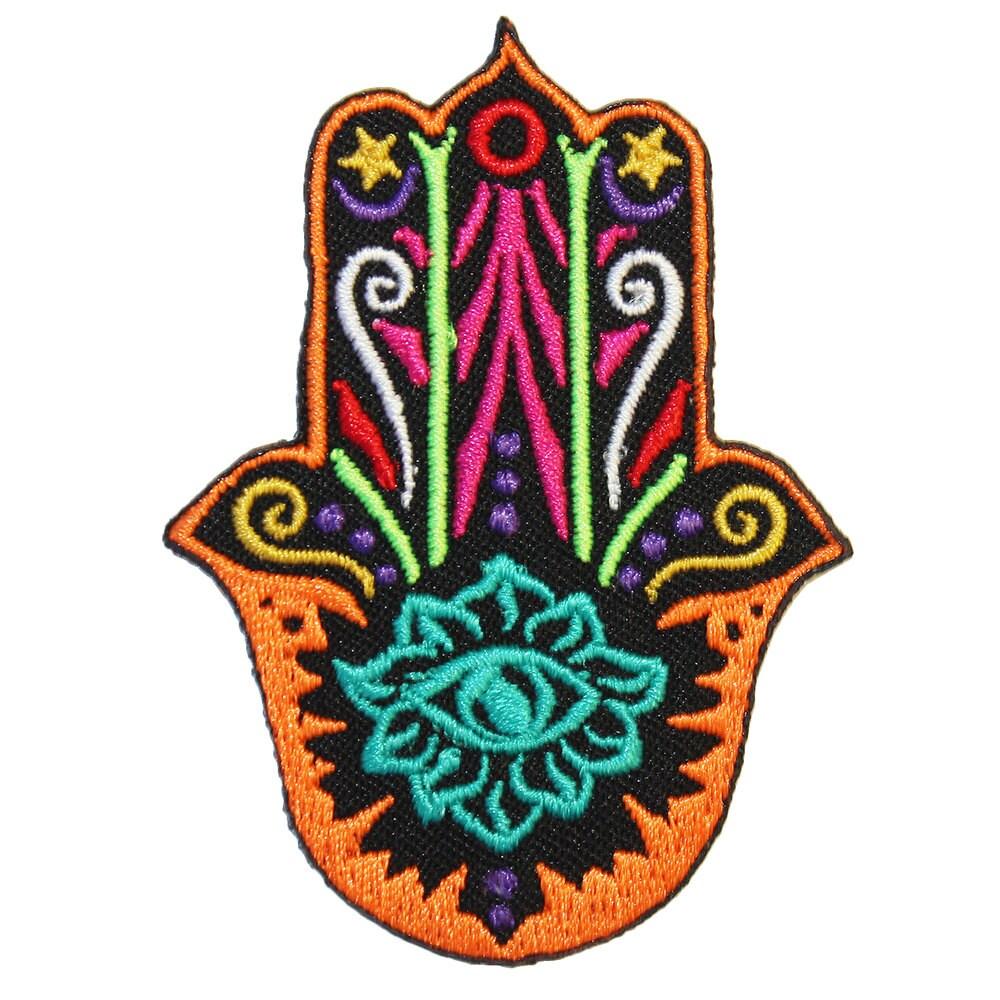Lastest hand embroidery patches makaroka
