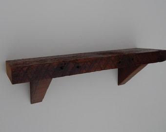 Barnwood Wall Shelf - 24 inches