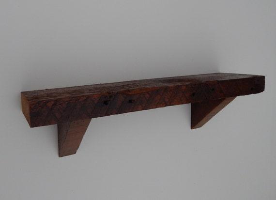 barnwood wall shelf 24 inches. Black Bedroom Furniture Sets. Home Design Ideas