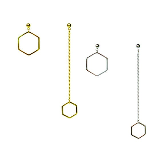 Hexagon Twin Earring