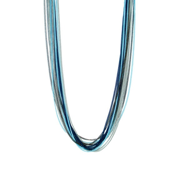 Tonal Blue Layering Necklace
