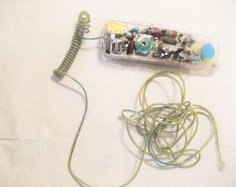 Clear Plastic Radio Shack Anatomy Phone Vintage 1980s Working Telephone