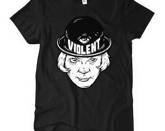 Women's Violent T-shirt - S M L XL 2x - Ladies' Tee - Illustration, Violence, Crazy, Madness - 4 Colors
