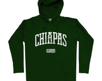 Chiapas Mexico Hoodie - Men S M L XL 2x 3x - Chiapas Hoody, Sweatshirt, Mexican, Palenque, Tuxtla Gutierrez, Bonampak - 4 Colors