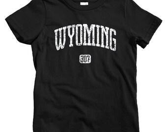 Kids Wyoming 307 T-shirt - Baby, Toddler, and Youth Sizes - Wyoming Tee, Cheyenne, Casper, Laramie, Yellowstone - 4 Colors