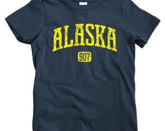 Kids Alaska 907 T-shirt - Baby, Toddler, and Youth Sizes - Alaska Tee, Juneau, Anchorage, Fairbanks, Nome - 4 Colors