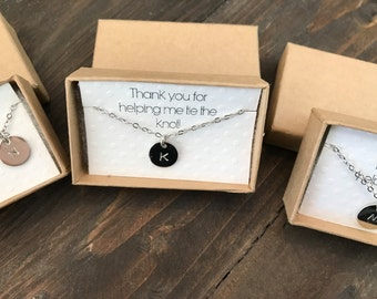 Wedding Thank you gift necklace, personalized thank you gift, shower thank you gift