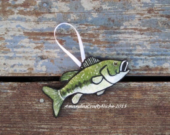 Rustic Largemouth Bass Ornament