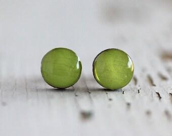 Key Lime Post Earrings - Titanium Hypoallergenic 9mm