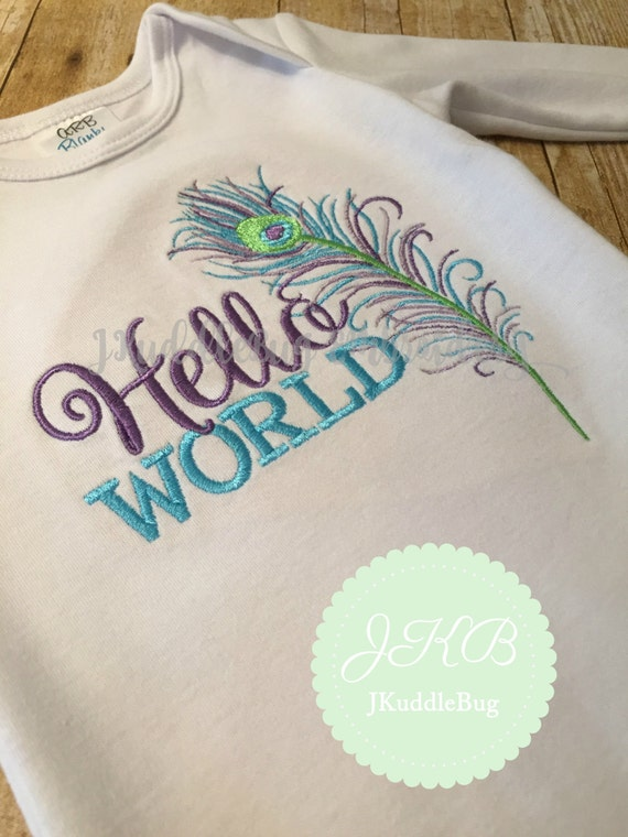 Go Hello World: Items Similar To Hello World Infant Gown