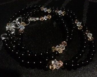 Onyx Waist Beads (1 Pair) Sizes 37 - 50 inches