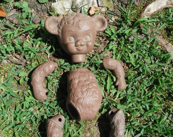 Vintage Porcelain Teddy Bear Doll - Parts - Project