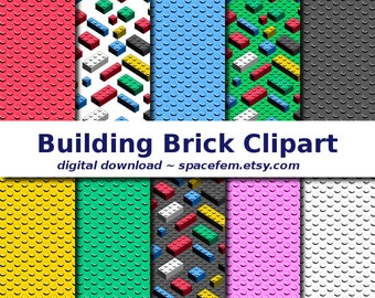 Building blocks clip art - toy clipart digital download png files