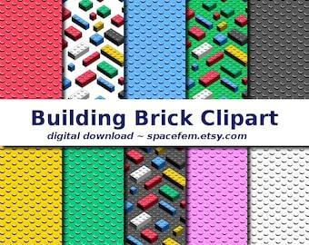 Building blocks clip art - toy clipart digital download png files