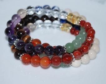 Crystal Necklace, Multi Gemstone Necklace, Healing Gemstone Necklace, Unisex Necklace