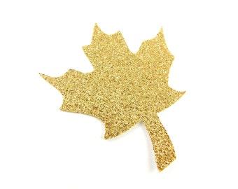 "2.25"" Glitter Maple Leaf Die Cuts set of 25"