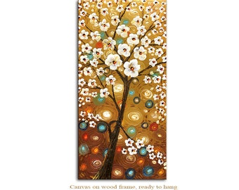 Summer Giclee Print  on canvas Interior decor by Paula ready to hang cityscape