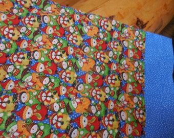 Pillowcase - Snow People Band - Cute Playing Instruments - Colorful Cotton - Only 1 Left