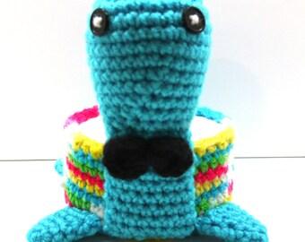 Amigurumi animal, crochet animal, desk organizer, desk accessories, candy dish, amigurumi snail, amigurumi turtle, desk sitter
