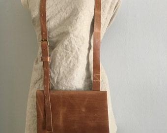 Leather satchel purse leather crossbody purse raw leather bag
