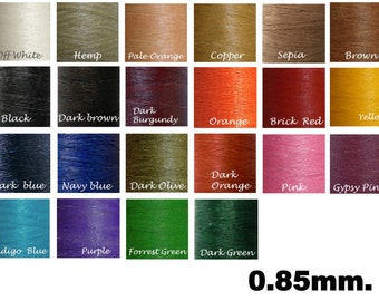 0.85 mm/ Waxed Cord/ 70-90 yards -MIxed Colors- for  Macrame work