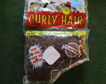 Curly Doll Hair One & Only ORIGINAL  Curl Vintage Dated package 1990 Autumn Brown